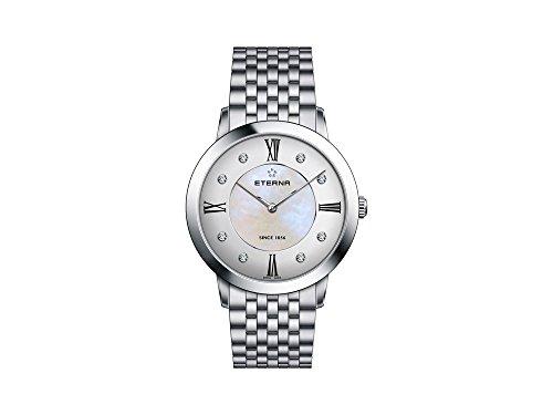 Eterna Eternity Lady Quartz Watch, ETA 955.112, 40mm, Diamonds, Mother of Pearl
