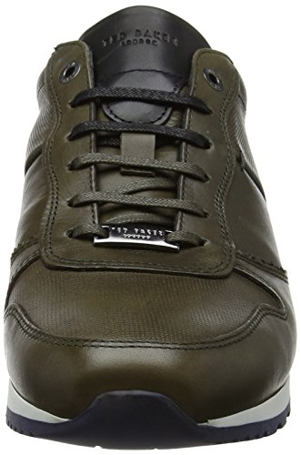 Ted Baker Shindl Lthr Am Dk Green, Sneaker Uomo Verde (verde Oscuro)