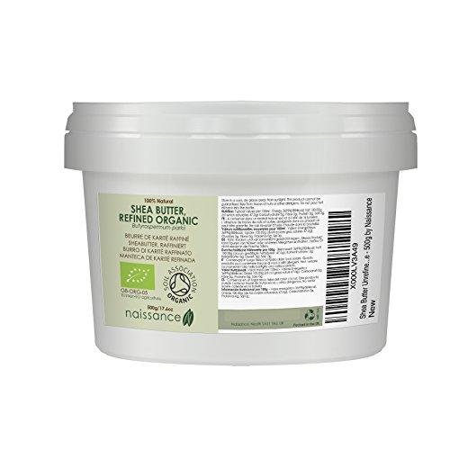 Naissance Burro di Karitè Raffinato Certificato Biologico Naturale al 100% - 500g