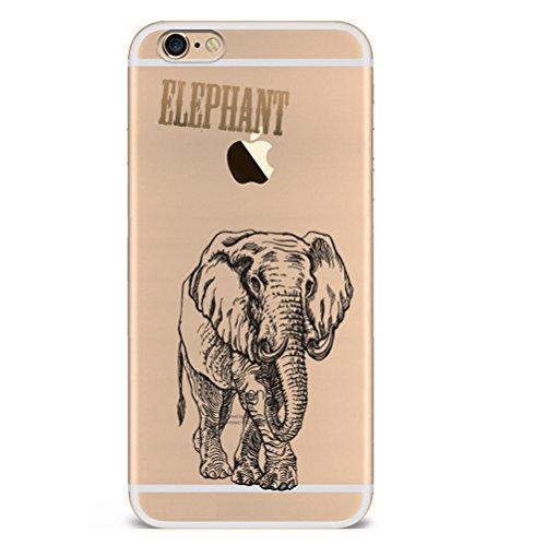 Iphone 6s 6 Hülle Giraffe Einhorn Elefanten Art Karikatur Silikon TPU Schutzhülle Ultradünnen Case Schutz Hülle für iPhone 6/6s YM91