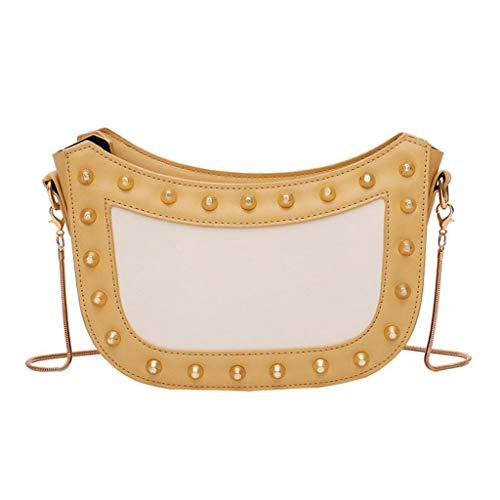 Mitlfuny handbemalte Ledertasche, Schultertasche, Geschenk, Handgefertigte Tasche,Damenmode Patchwork Retro Umhängetasche Handtasche Tasche Small Square Bag -