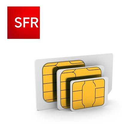 CARTE SIM SFR SANS ENGAGEMENT AVEC 10€ DE CREDIT