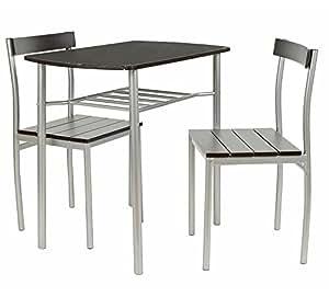 Ts Ideen 2822 Set 3 Pezzi Tavolo Con 2 Sedie In Alluminio