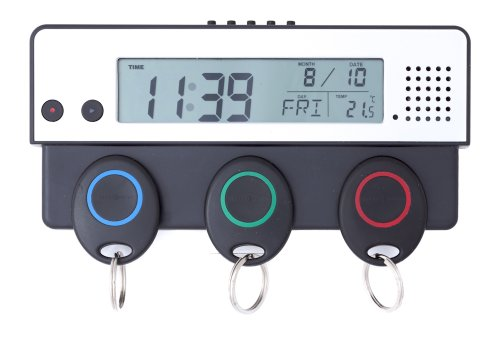 Schlüsselhalter mit Tages-,Zeit,-Temperatur-Monatsanzeige und Erinnerungsfunktion