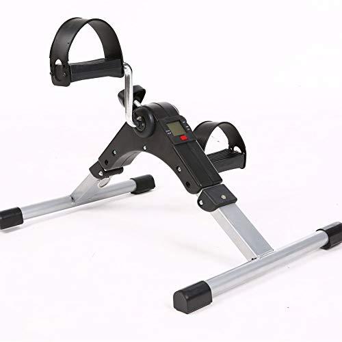 QIANGGAO Medical Folding Pedal Exerciser, Mini Heimtrainer mit elektronischer Anzeige, Fitnessgeräte für Arme und Beine