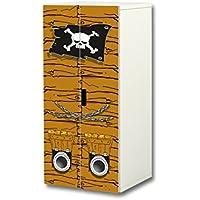 Stikkipix Piraten Aufkleber-Set | SC38 | passend für den Kinderzimmer Schrank STUVA von IKEA (Korpus: 60 x 128 cm) | Möbel Nicht Inklusive preisvergleich bei kinderzimmerdekopreise.eu