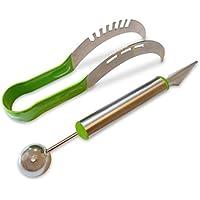 Affetta melone e melone Baller Frutta in acciaio inossidabile (Verde)–Premium–Set