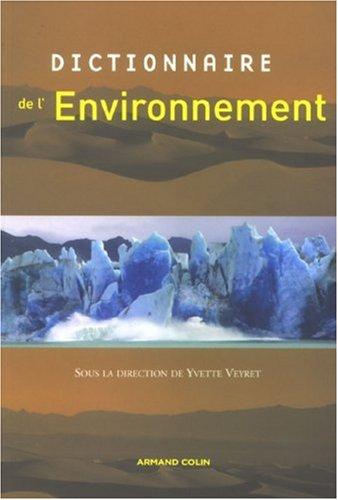 Dictionnaire de l'environnement