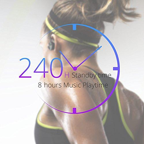 UMIDIGI Bluetooth Kopfhörer, wireless Kopfhörer Stereo In Ear Ohrhörer mit Magnet, Bluetooth 4.1, 8-Stunden-Spielzeit, IPX6 Spritzwasserfest, Kabellose Headset mit Mikrofon für iPhone iPad Samsung Galaxy Note und Android Handy - 3
