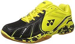 Yonex Super Ace Light Badminton Shoes, UK 7 (Light Yellow/Black)