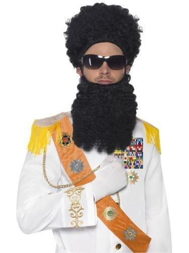 Dictator Kostüm Set 3-teilig Diktator Borat Original Perücke Bart (Kostüm Diktator Das)