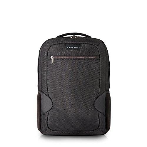 Everki Studio – Laptop Rucksack für Notebooks bis 14,1 Zoll (36 cm) / MacBook Pro 15 Zoll mit integriertem Ecken–Schutz–System, Trolley-Lasche und weiteren hochwertigen Funktionen, Schwarz