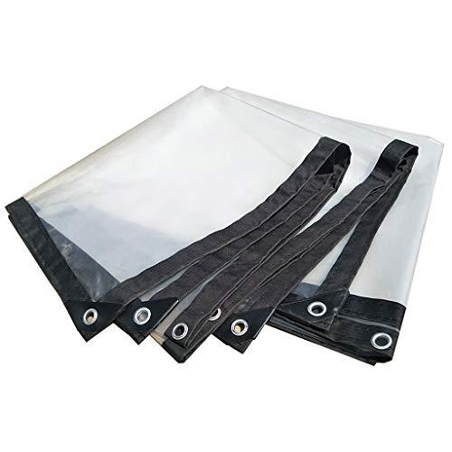 Lonas Lona Alquitranada Lona Impermeable Transparente/Lona Impermeable Transparente Resistente A La Lluvia Plástico para La Carpa, Bote, Cubierta De Piscina (Tamaño : 3x4m)