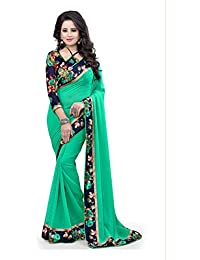 Women's Latest Designer Chiffon Fancy Saree With Blouse By Xotic Enterprise (Free Size)