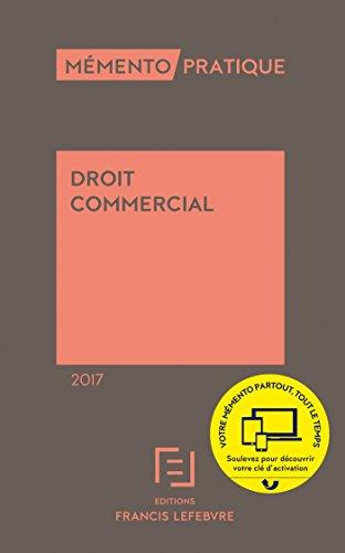 MEMENTO DROIT COMMERCIAL 2017