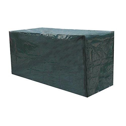Schutzhülle für Gartenbank 2 Bis 3 Sitze 160cm PE Gewebe 120GSM MIT 8 Ösen und 6 Meter Kordel UV Schutz