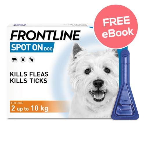 Frontline Spot On For Small Dogs – 3 Pipettes – INCLUDES EXCLUSIVE PETWELL® FLEA AND TICK E BOOK