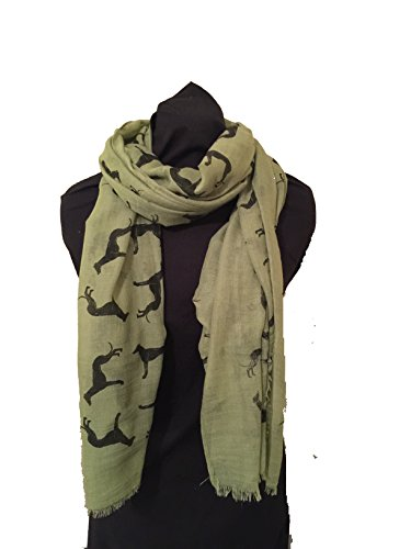 apple-green-with-black-big-greyhound-scarf-with-frayed-edge-lovely-long-soft-scarf-fantastic-gift