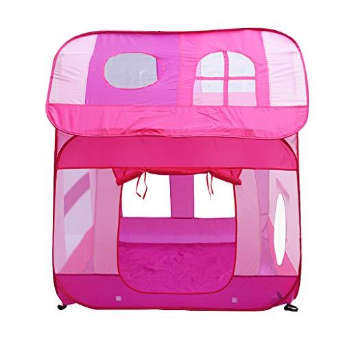 B Blesiya Pink Pop Up Schloss Spielhaus Spielzelt Kinderzelt Ballpool Spielzeug für Haus, Garten, Strand, Camping