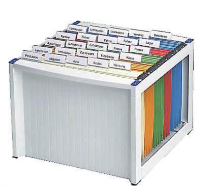 helit Hängeregistraturkorb für ca. 40 Hängemappen / lichtgrau / stapelbar / unbefüllt / H61100-84