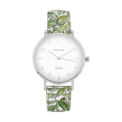 Reloj de acero Victoria Correa de piel diseño Brosway wvik03