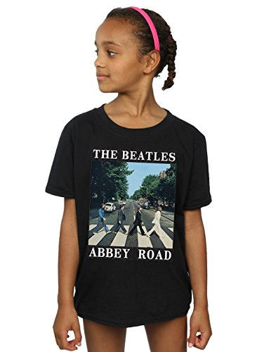 The Beatles Mädchen Abbey Road T-Shirt 12-13 Years Schwarz (Schwarz Abbey T-shirt Road)