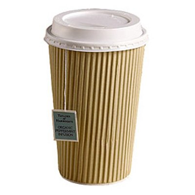 100-x-kraft-16-ounce-ripple-paper-cups-and-white-lids-3-ply-insulated-for-tea-coffee-hot-drinks-by-b
