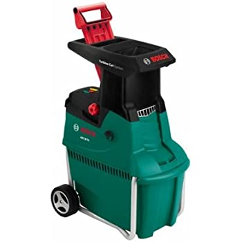 Bosch Broyeur de Végétaux AXT 25 TC (Poussoir Pour Déchets Verts, Bac de Ramassage 53 Litres, Carton, Débit: 230 Kg/H, Capacité de Coupe Maximale: Ø 45 mm, 2 500 W)
