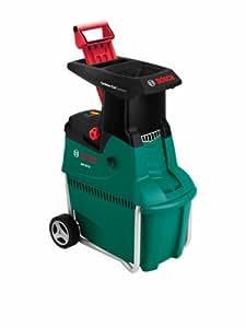 Bosch broyeur de végétaux AXT 25 TC (poussoir pour déchets verts, bac de ramassage 53 litres, carton, débit : 230 kg/h, capacité de coupe maximale : Ø 45 mm, 2500 W)
