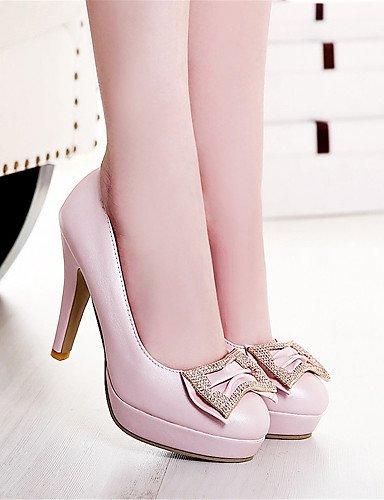 WSS 2016 Chaussures Femme-Mariage / Habillé / Décontracté / Soirée & Evénement-Bleu / Rose / Blanc-Talon Aiguille-Talons-Talons-Matières pink-us8 / eu39 / uk6 / cn39