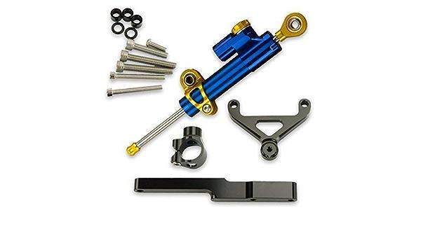 Stabilizzatore CNC in Alluminio Ammortizzatori Regolabili Controllo di Sicurezza lineare invertito CHUDAN per Honda CB1000R Ammortizzatore di sterzo da Competizione Moto con Staffa di Montaggio