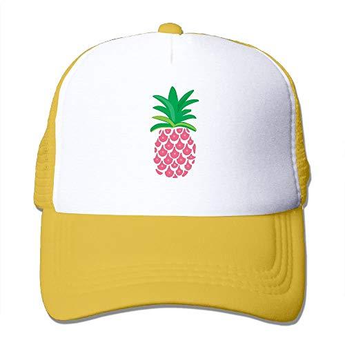 New Era Shop Adult Pink Pineapple Mesh Football Visor Cap Black