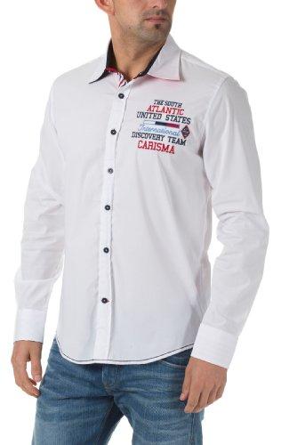 Carisma Herren Freizeit Hemd Weiß