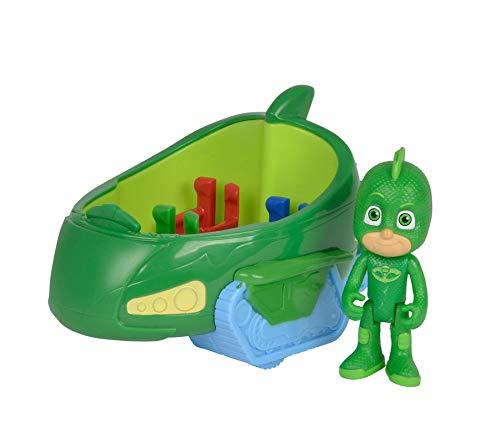 Ideal PJ Masks Gecko mit Geckomobil Spielzeug Figur Actionfigur Spielzeugauto Kinder