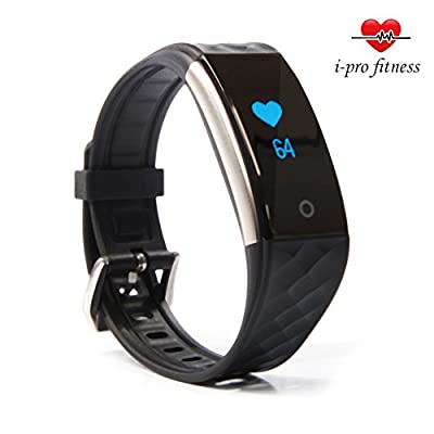 i-Pro S2 Waterproof Fitness Tracker With Heart Rate Monitor,Fitness Watch,Sleep Tracker App And Calorie Counter App – Easy To Use Pairing With Smart Wristband 2 App – PLUS Bonus E-Book To Accelerate Your Re by i-pro fitness