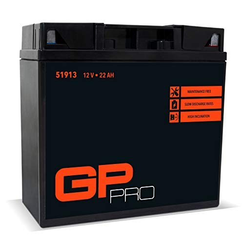 GP-PRO G19 12V 22Ah GEL Batterie (DIN 51913) (Wartungsfrei/Versiegelt) Akkumulator Motorrad Motorradbatterie für u.a. BMW R850 R1100 R1150 GS K1200