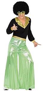 Atosa 26389 - fiebre del disco, verde, hombres traje, tamaño 52/54, negro/verde