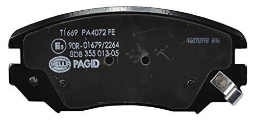 HELLA PAGID 8DB 355 013-051 Kit pastiglie freno, Freno a disco, Assale anteriore