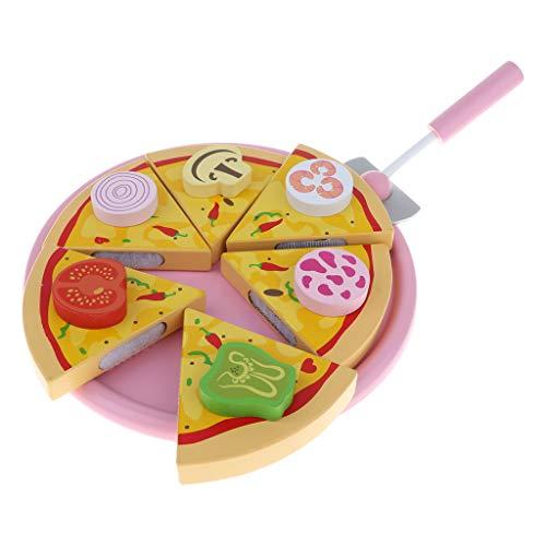 Homyl Magnetische Pizza Küche Nahrungsmittel Lebensmittel Rollenspielzeug