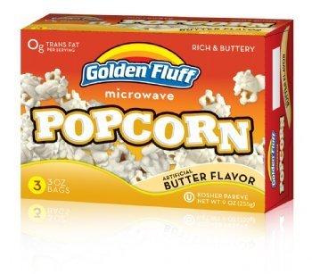 Golden Fluff 12043 Microwave Popcorn - Butter Case Of 12 X 3 X 3 Oz