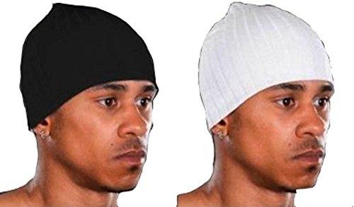 Bonnet femme homme Noir Blanc Lot De 2 rap hip hop ski snowboard