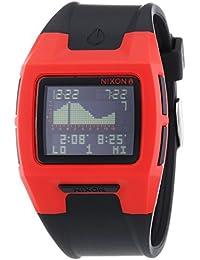 Nixon Lodown II Red Black - Reloj de cuarzo para hombre, correa de plástico color negro