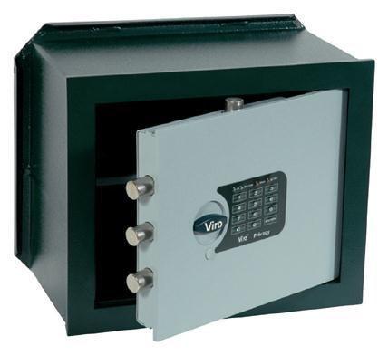 Viro Cassaforte elettronica di sicurezza 'PRIVACY' orizzontale da incasso 230x350x205