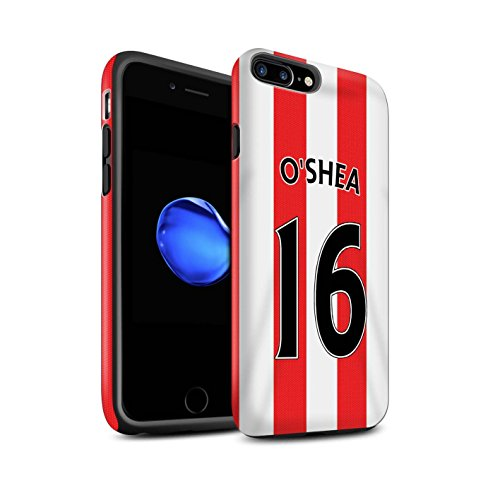 Offiziell Sunderland AFC Hülle / Matte Harten Stoßfest Case für Apple iPhone 7 Plus / Kone Muster / SAFC Trikot Home 15/16 Kollektion O'Shea