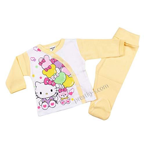 Baby Sets Kombination Mädchen Hello Kitty Langarm 100% Baumwolle (62, Gelb)