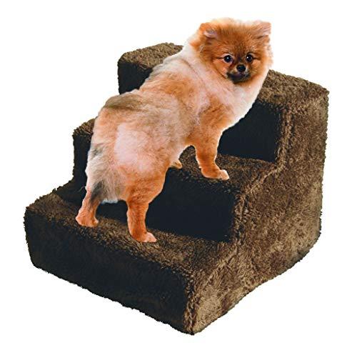 FRISKY FRIENDS Pet Treppen Hund Schritte 3Schritt Leiter mit Fleece überzogene Treppe Innen Rampe Kätzchen Puppy - Und Pet-rampe Treppe