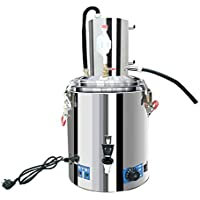 10 Gal 40 L Home Distiller Moonshine Alcohol Still Spirits Kit Agua Alcohol Distilador Home Brew Vino Making Kit 304 Acero Inoxidable Aceite Boiler Keg