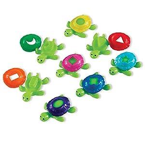 Learning Resources-Tortugas caparazones Smart Splash Aprender a reconocer Las Formas y los Colores, (LER7303)