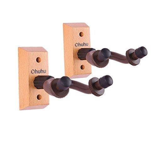 Ohuhu® Hartholz Gitarre Hänger Haus und Studio, Gitarrenhalter, 2er Pack (Gitarre Hänger)