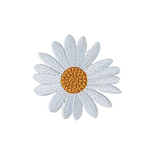 Nowbetter Sonnenblumen-Stickerei zum Aufnähen und Aufbügeln Bestickt Stoff Aufkleber Applikation DIY Zubehör Handwerk für Tasche Kleid Kleidung Dekoration, Style 2, 5.8 * 5.5CM -